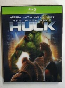 The Incredible Hulk blu-ray with green case & slipcover