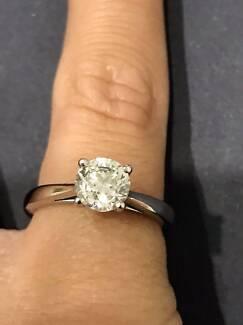 Platinum 1ct Diamond Ring