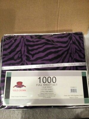 ZEBRA PRINT FULL SIZE SHEET SET ( PURPLE - Purple Zebra Print