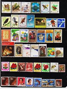NEW-ZEALAND-92-DIFFERENT-USED-STAMPS-COLLECTION-LOT-1024