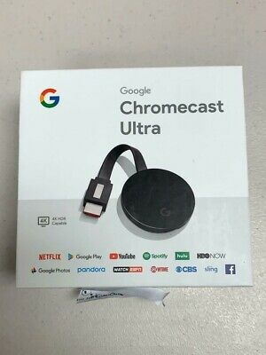 GOOGLE CHROMECAST ULTRA 4K DIGITAL MEDIA STREAMING DEVICE GA3A00403A14 BLACK