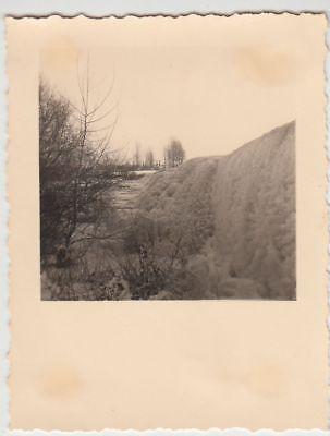 Foto-bug ((F21751) Orig. Foto Bug (Bamberg), Winterpartie am Wehr 1939)