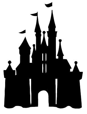 CASTLE PRINCESS Disney Wall Art Decal Quote Words Lettering