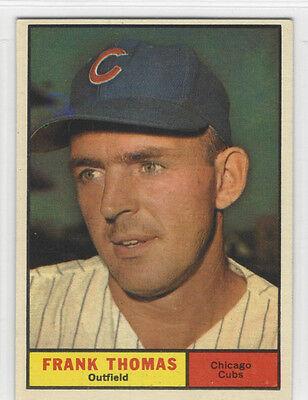 1961 TOPPS # 382 FRANK THOMAS NICE CARD