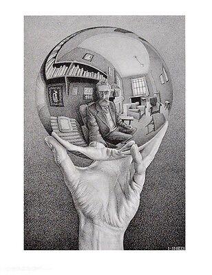 MC Escher Hand mit Kugel Poster Kunstdruck Bild 65x55cm