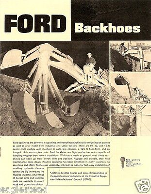 Equipment Brochure - Ford - Backhoes - Standard Auto-Dig Sde-Shift c1969 (EB509) for sale  Sointula