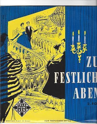 telefunken 25 cm LP 50er Jahre : Keith Engen - Anton Dermota - Hansgeorg Otto