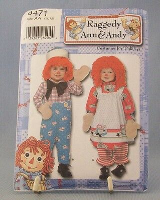 Daisy Kingdom Raggedy Ann & Andy Costume 4471 Toddler Halloween Boy Girl New - Raggedy Andy Costume Toddler
