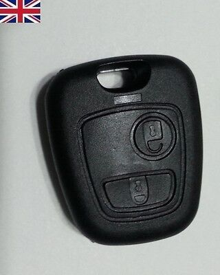 Citroen XSARA PICASSO BERLINGO 2 buttons remote KEY FOB CASE SCREWLESS FITTNG