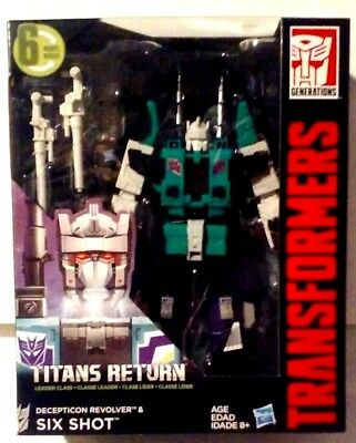 Transformers Generations Titans Return Leader Class Decepticon Six Shot New MISB