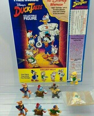 1991 KELLOGG'S DISNEY DUCK TALES FIGURES RICE KRISPIES with Box!