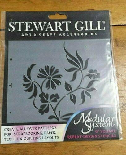 "STEWART GILL FLORAL 6"" MODULAR SYSTEM STENCIL FREE SHIPPING"