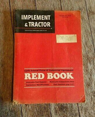 Vintage 1970 Implement Tractor Farm Equipment Red Book 54th Annual Edition