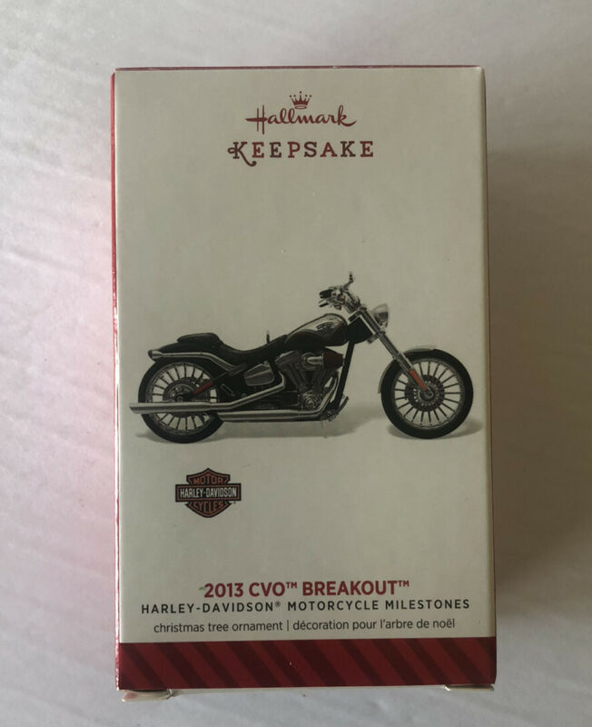 HALLMARK HARLEY-DAVIDSON 2013 CVO BREAKOUT MOTORCYCLE CHRISTMAS ORNAMENT IN BOX