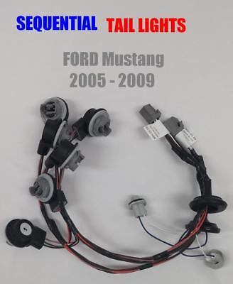 2005-2009-Ford-Mustang-Sequential-Plug-and-Play-Tail-Light-Turn-Signal-Harness  for sale  Shipping to Canada