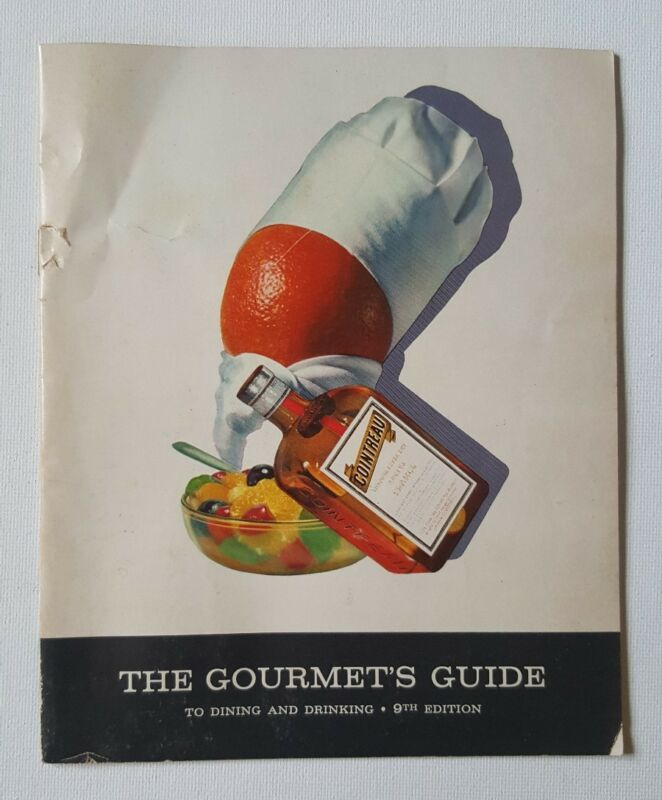 Vintage Cointreau Gourmets Guide 9th Ed Drink Cocktail Recipe Bartender Guide