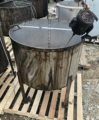 Used- Mix Tank Approximate 330 Gallon Stainless Steel Vertical Clean Inside