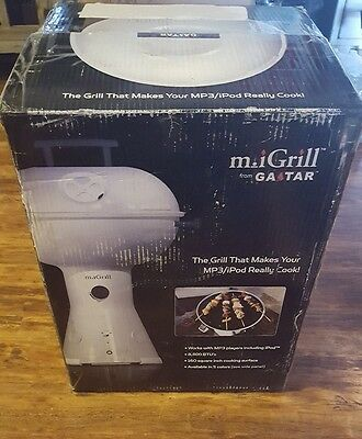 Gastar M Igrill Portable Tabletop Propane Grill With Speakers Plays Mp3 White