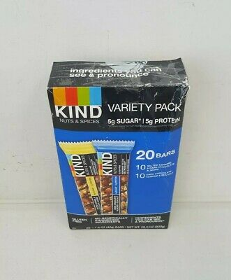 Kind Nut And Spices Bar Variety Pack Salted Caramel Dark Chocolate 20 Count