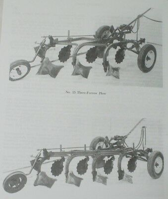 Ih No 15 International Harvester Farmall 3 4 Bottom Trailer Plow Owners Manual