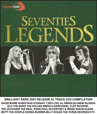 Best Greatest Hits 70's 2CD - McCartney Chic T.Rex Bowie Rod Stewart Queen ELO