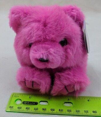 Puffkins Rosie the Pink Teddy Bear Plush Stuffed Swibco VTG Toy w/ Tag