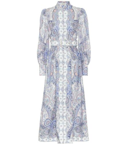 BNWT Zimmermann Paisley Linen Midi Dress, Size 1 exclusive to mytheresa.com