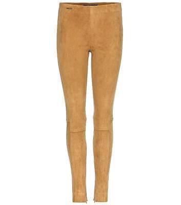 MUJER Polo Ralph Lauren Cordero Piel Elástica Ante Leggings Pantalones Pitillos