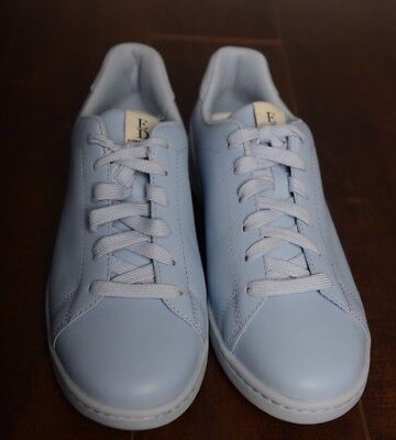 Rare New Ellen Degeneres Ed Chapalov2 Women 8M Light Blue Leather Sneakers Love