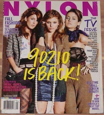 SEPTEMBER 2008 NYLON MAGAZINE THE TV ISSUE, FALL FASHION, 90210, SHENAE GRIMES