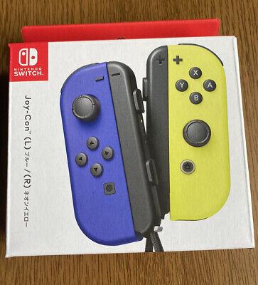 *US Seller* Unused Joy Con Wireless Controllers Nintendo Switch Blue/Neon Yellow