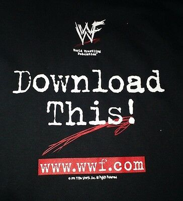 Wwf Download This  Vintage T Shirt Wwf Com Wwe Xl Scratch Logo Attitude Era