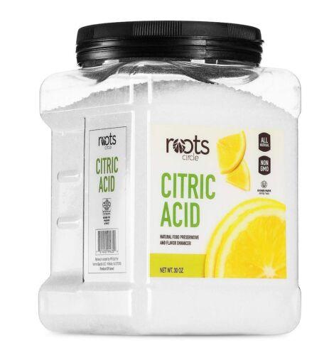 Roots Circle All-Natural Citric Acid   Food-Grade Flavor Enhancer, Household