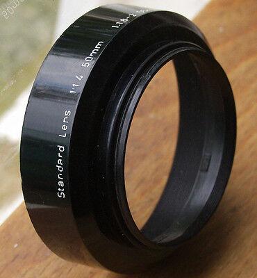 Asahi PENTAX lens hood for 50mm f1.4 m42  49mm screw in ( plastic)