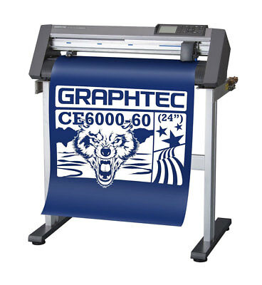 New Graphtec Ce6000-60 Plus Vinyl Cutter Plotter Wfree Stand - Uscutter