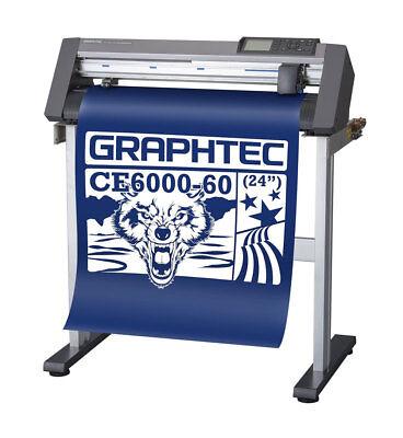 New Graphtec Ce6000-60 Plus Vinyl Cutter Plotter Wfree Stand - Uscutter