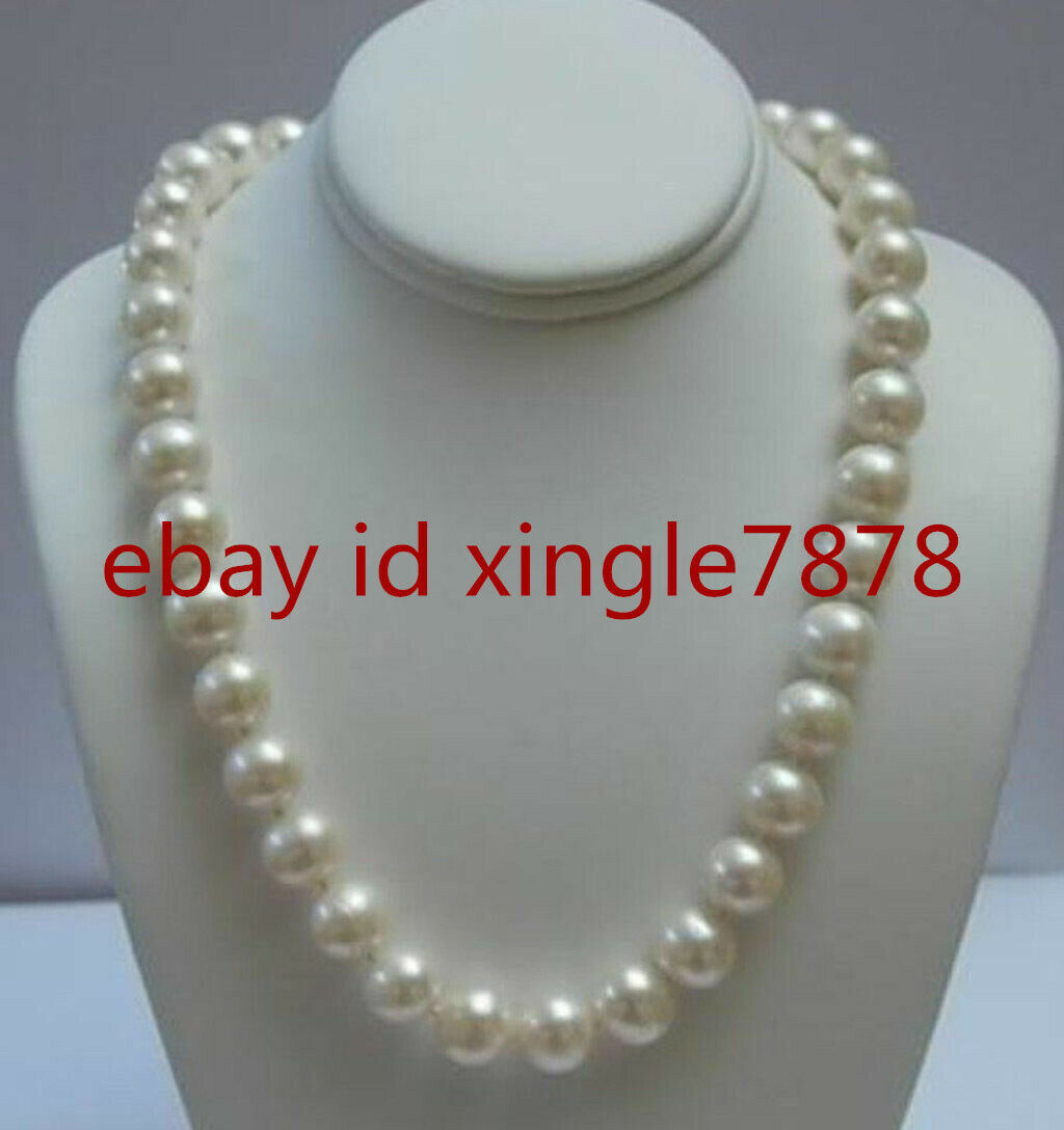"""White Coin Akoya Cultured Pearl Necklace Natural 12MM 35/"""""""