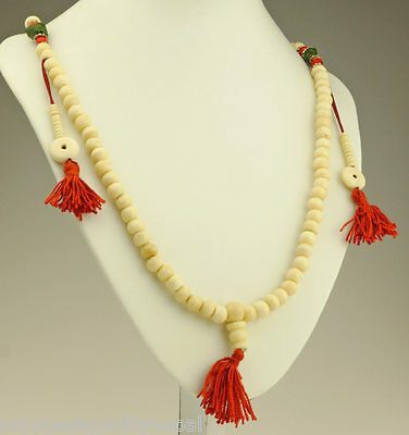 Mala Beige Prayer Chain Jewellery Summer Buddhist Dharma 36b