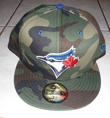 TORONTO BLUE JAYS Rare NEW ERA Woodland Camo Pop 59Fifty Hat Cap 7 3/4