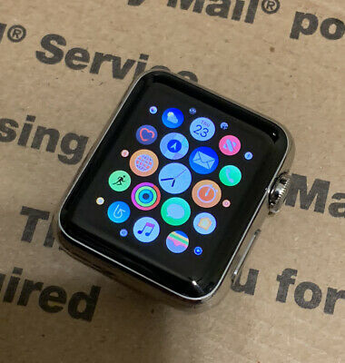 Apple Watch 38mm Silver Stainless Steel Case 1st Gen *Watch Only* Image Burn