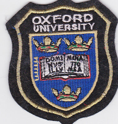 NEW WOVEN BADGE OXFORD UNIVERSITY PATCH GIFT SOUVENIR GOLD THREAD ENGLAND UK