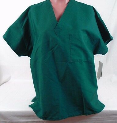 Barcobasix Bio Medical Uniform V Neck Scrub Top Bx001 85 Aspen Size Medium 37K
