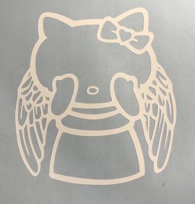 Hello Kitty Doctor Who Weeping Angel Mash up Vinyl Decal for Phone Car or Laptop - Weeping Angel Kitty