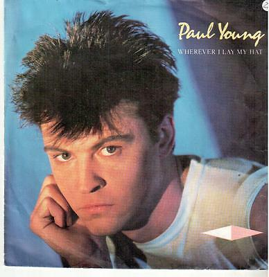 "<2126> 7"" Single: Paul Young - Wherever I Lay My Hat / Broken Man"