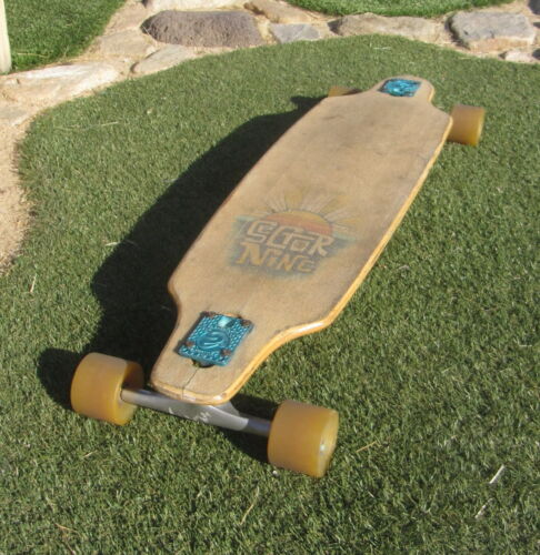 "Sector Nine 9 Longboard - 38"" - Drop Through Trucks - Early 90s Vintage"