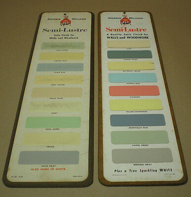 Vintage Paint Advertising Color Chip Sign  Sherwin Williams Swp Semi Lustre