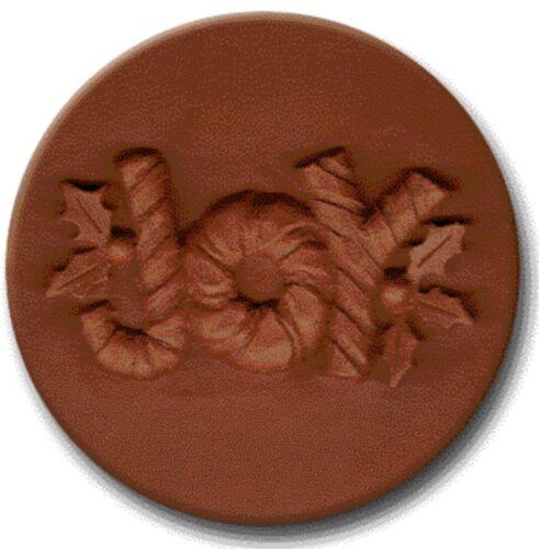"RYCRAFT 2"" Round Cookie Stamp with Handle & Recipe Booklet--JOY"