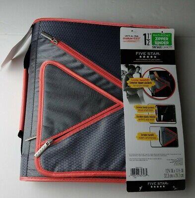 Five Star Zipper School Binder 1 12 Multi-pocket Durable 300 Sheet Capacity