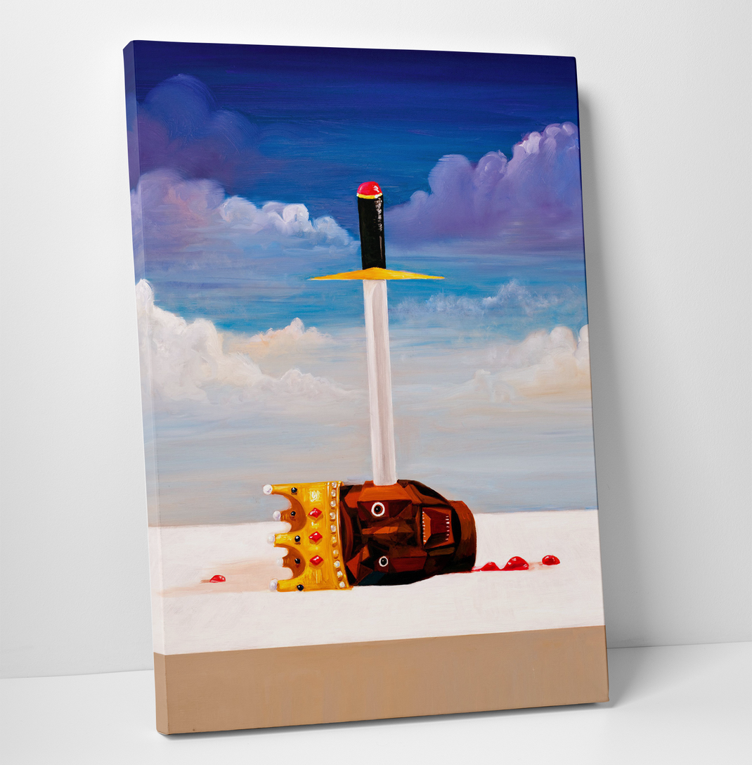 "11""x14"" Gallery Art Canvas- Kanye West My Beautiful Dark Twisted Fantasy ""Power"""