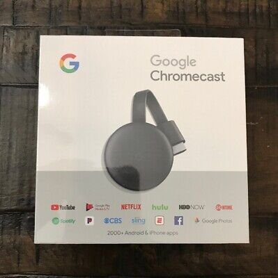 Google Chromecast 3rd Gen Digital HDMI Media Streaming Device 2018 Version NEW